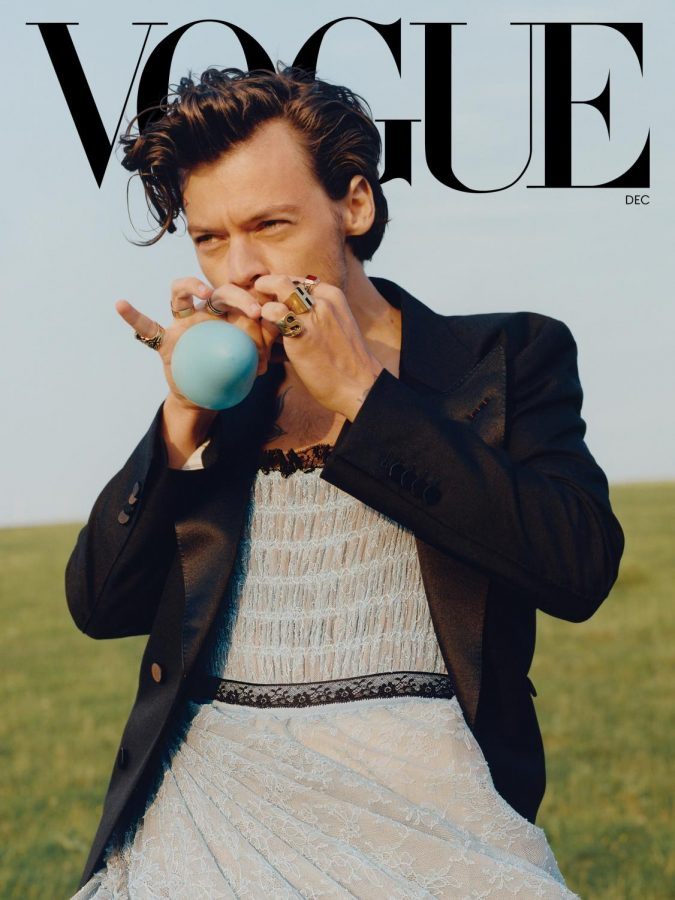 Styles on the December 2020 cover of Vogue.